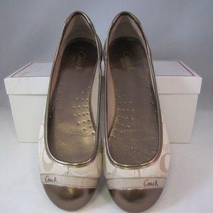 Coach Cecile Sig Ballet Womens Flat Shoes Sz 7 1/2